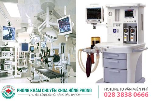Trang thiết bị hiện đại sử dụng trong hỗ trợ điều trị các bệnh liên quan đến loét dương vật tại PKĐK Hồng Phong