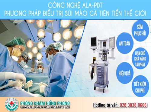 Thiết bị ALA-PDT hỗ trợ điều trị sùi mào gà dương vật (