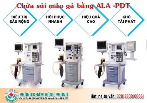 chữa sùi mào gà bằng phương pháp ALA-PDT