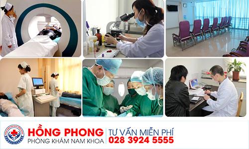 Điều trị đau tuyến tiền liệt tại phòng khám Đa khoa Hồng Phong.