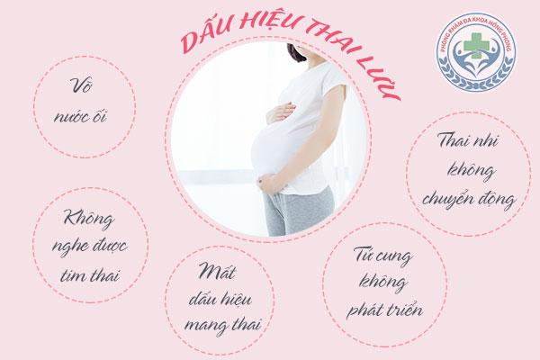 Hiện tượng thai lưu, dấu hiệu cảnh báo thai lưu