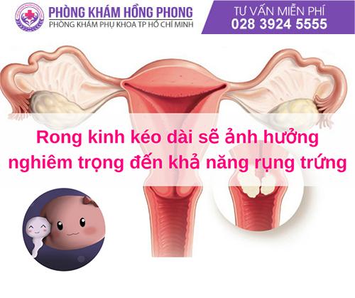 Rong kinh gây ảnh hưởng đến khả năng sinh sản của nữ giới